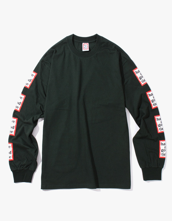have a good time Arm Frame L/S Tee - Dark Green | HEIGHTS. | International Store