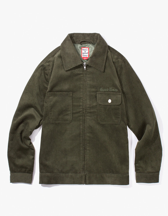 have a good time Good Times Corduroy Jacket - Dark Green | HEIGHTS. | International Store