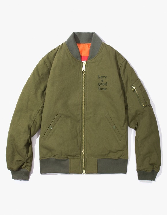 have a good time Apparaitre MA-1 Jacket - Olive | HEIGHTS. | International Store