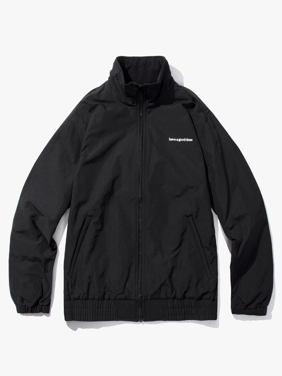 have a good time Side Logo Inner Fleece Jacket - Black | HEIGHTS. | International Store