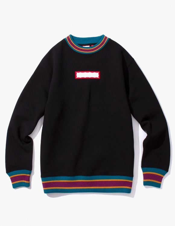 have a good time Color Rib Crewneck - Black | HEIGHTS. | International Store