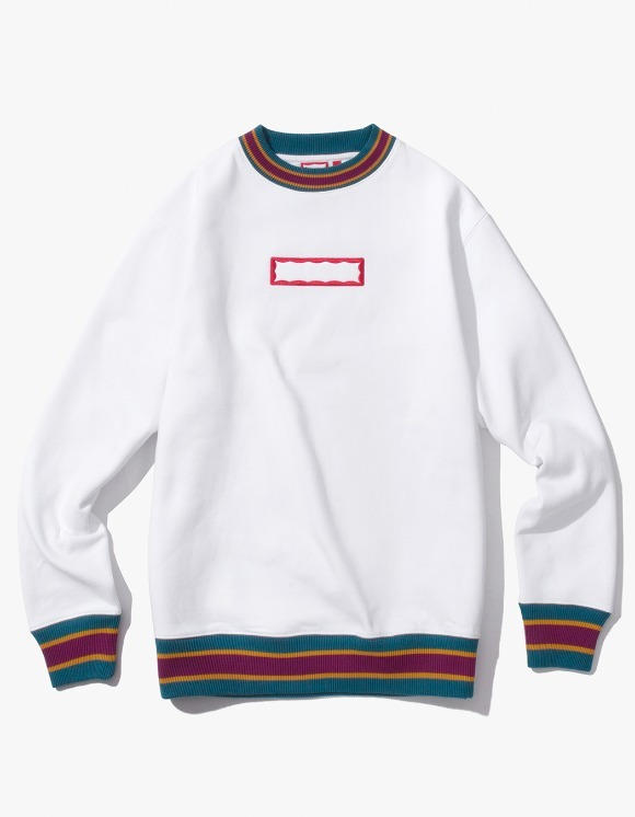have a good time Color Rib Crewneck - White | HEIGHTS. | International Store