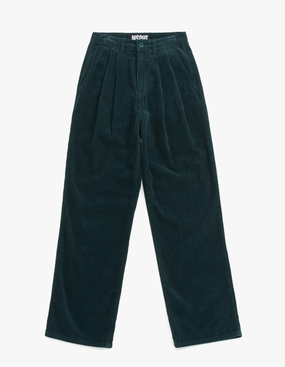 MISCHIEF Double Pleat Corduroy Trousers - Green | HEIGHTS. | International Store