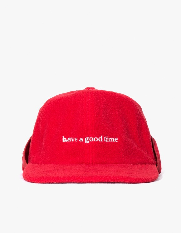 have a good time Fleece 6 Panel Cap - Red | HEIGHTS. | International Store