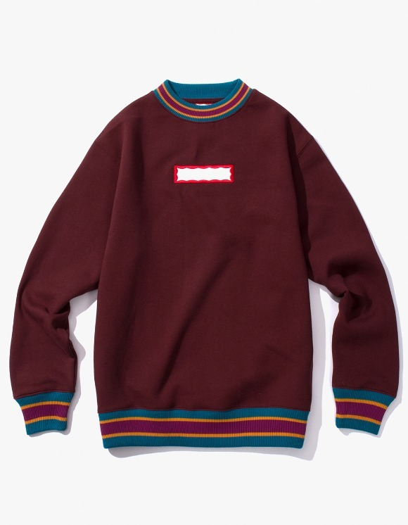 have a good time Color Rib Crewneck - Wine | HEIGHTS. | International Store