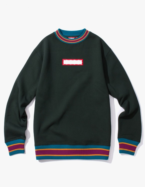 have a good time Color Rib Crewneck - Dark Green | HEIGHTS. | International Store