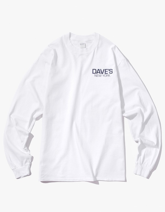 DAVE'S NEW YORK Work Logo L/S T-Shirt - White | HEIGHTS. | International Store
