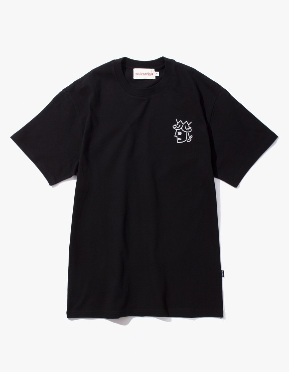 Victoria Hong Kong Queen Head S/S Classic Tee - Black | HEIGHTS. | International Store