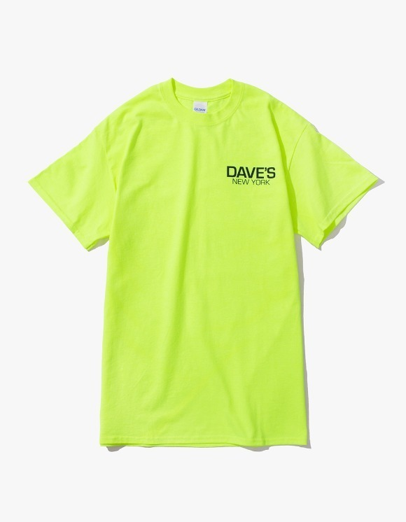 DAVE'S NEW YORK Work Logo S/S T-Shirt - Safety Green | HEIGHTS. | International Store