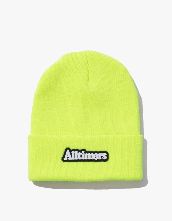 Alltimers Brodway Rubber Beanie - Neon Green | HEIGHTS. | International Store