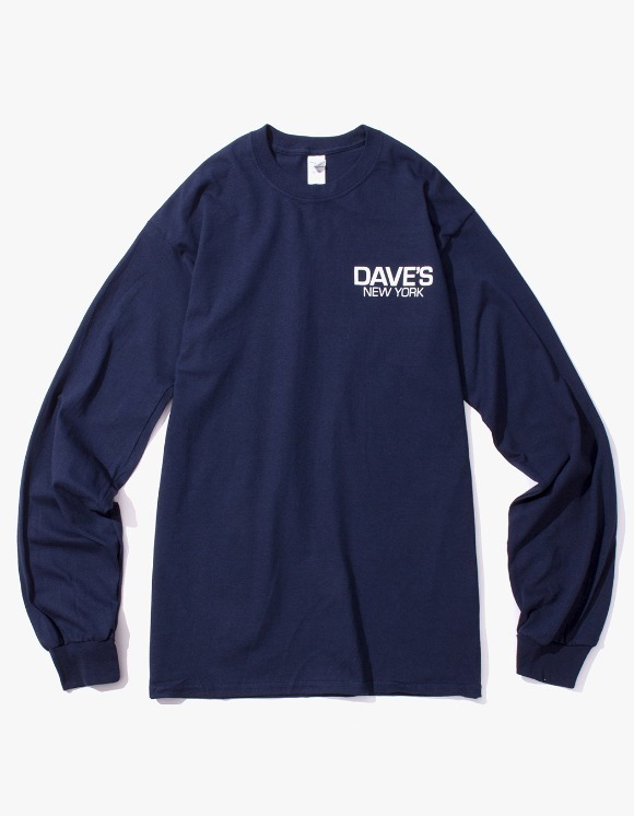 DAVE'S NEW YORK Work Logo L/S T-Shirt - Navy | HEIGHTS. | International Store