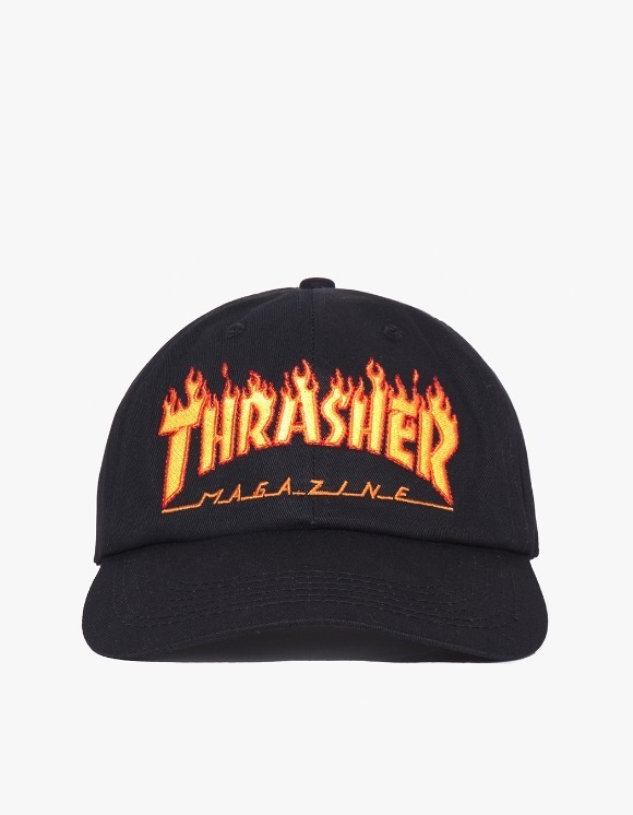 Thrasher Flame Old Timer Hat - Black | HEIGHTS. | International Store
