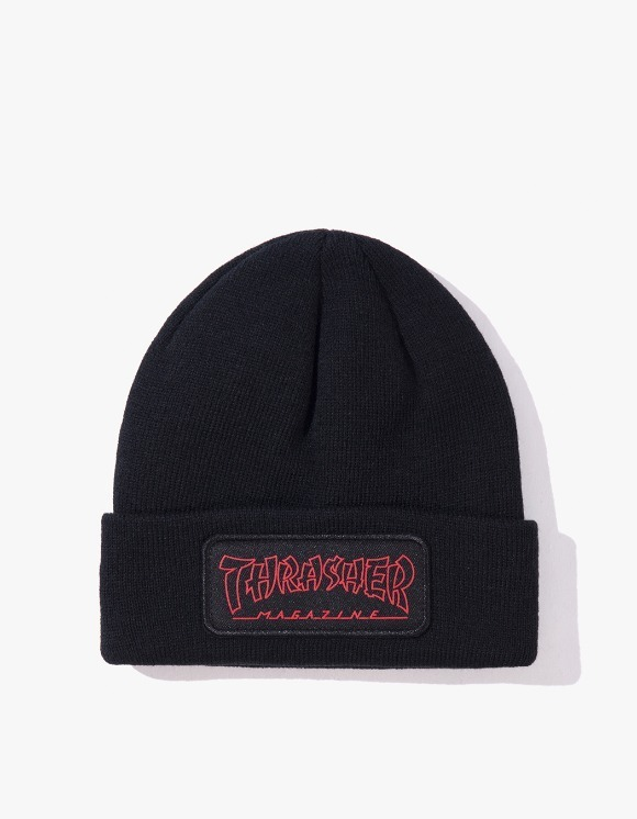 Thrasher China Banks Patch Beanie - Black | HEIGHTS. | International Store