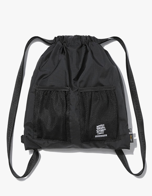 thisisneverthat Ripstop Cordura® 210D Gym Sack - Black | HEIGHTS. | International Store