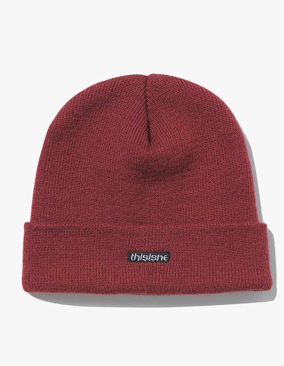 thisisneverthat HSP Short Beanie - Brick Red | HEIGHTS. | International Store