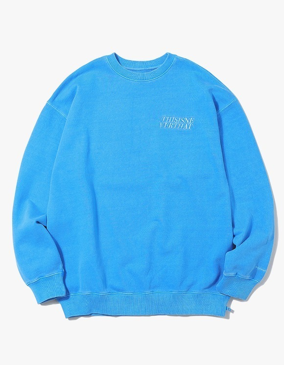 thisisneverthat ACE Logo Overdyed Crewneck - Blue | HEIGHTS. | International Store