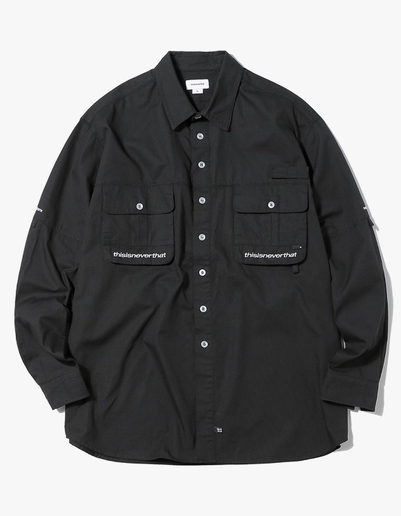 thisisneverthat Sports Fishing shirt - Black | HEIGHTS. | International Store