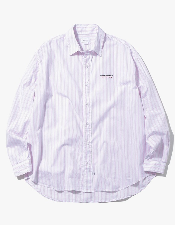 thisisneverthat DSN Logo Striped Shirt - Pink | HEIGHTS. | International Store