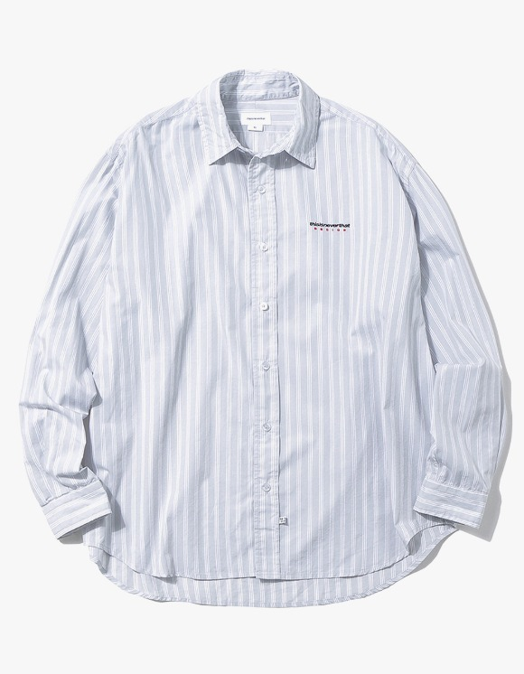 thisisneverthat DSN Logo Striped Shirt - Grey | HEIGHTS. | International Store