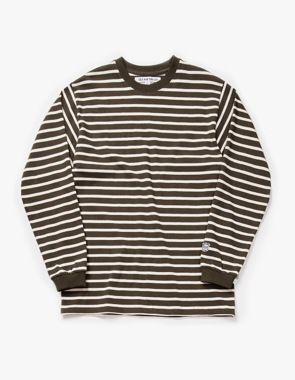 IZOLA NYC Stripe L/S Tee - Olive | HEIGHTS. | International Store
