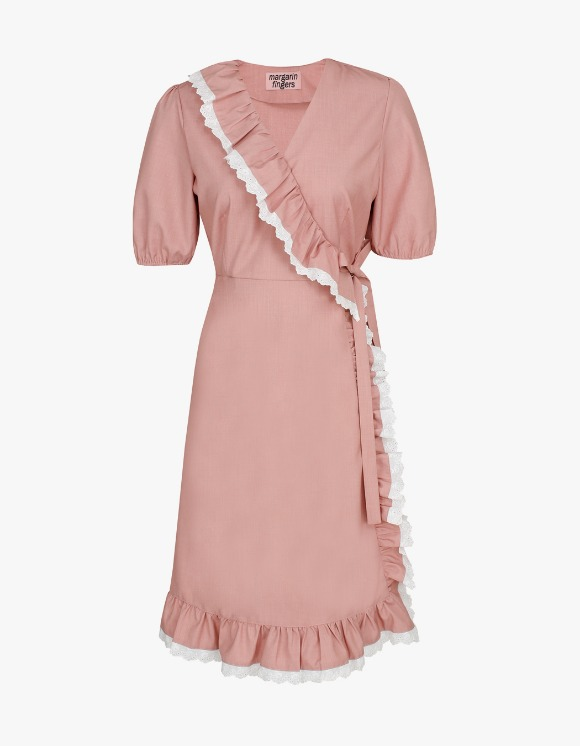 Margarin Fingers Frill Wrap One-Piece - Pink | HEIGHTS. | International Store