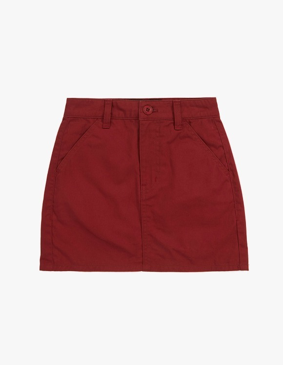 MISCHIEF [4 April, 2019 pre-oder]Chino Mini Skirt - Crimson Red | HEIGHTS. | International Store