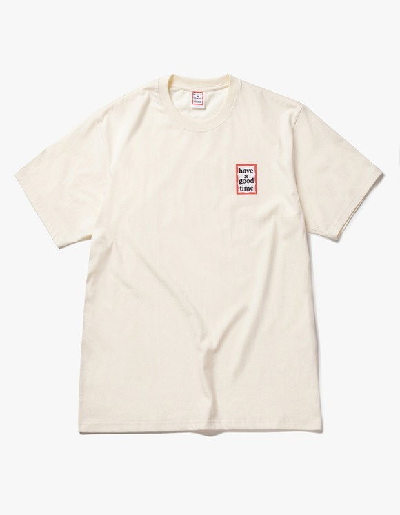have a good time Mini Frame S/S Tee - Cream | HEIGHTS. | International Store