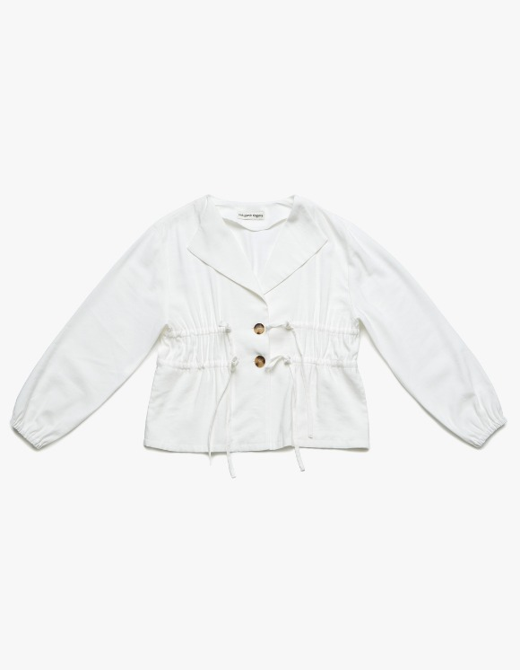 Margarin Fingers Crop String Jacket - White | HEIGHTS. | International Store