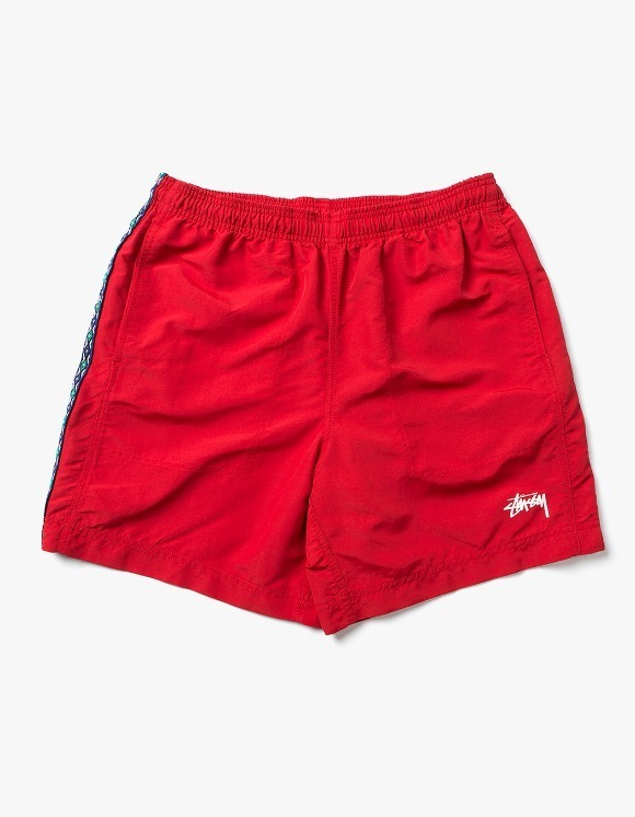 Stussy Taping Nylon Short - Red | HEIGHTS. | International Store