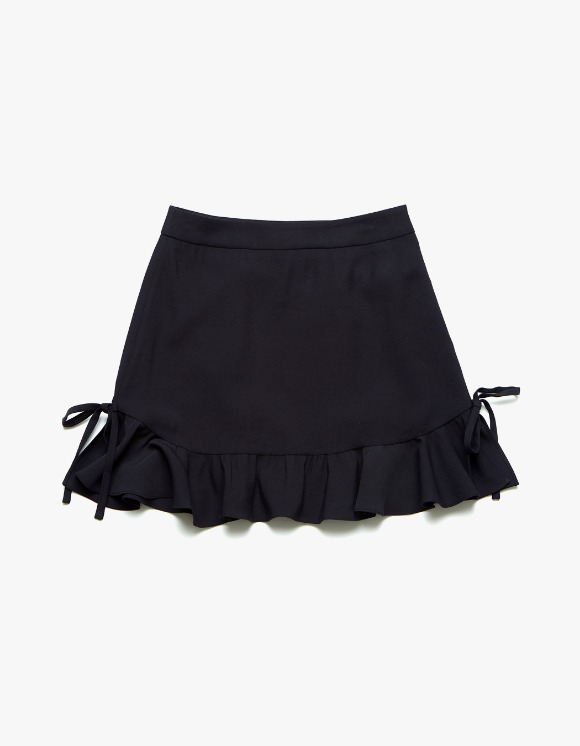 Margarin Fingers Ruffle Hem Mini Skirt - Navy | HEIGHTS. | International Store