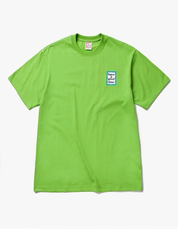 have a good time Mini Blue Frame S/S Tee -Leaf Green | HEIGHTS. | International Store