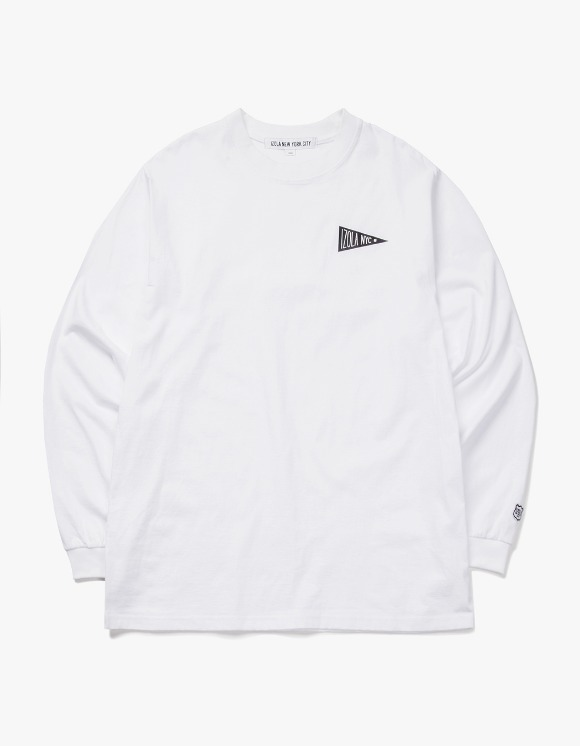 IZOLA NYC Flag L/S Tee - White | HEIGHTS. | International Store