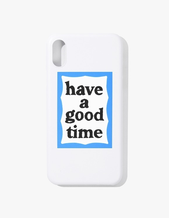 have a good time Blue Frame iPhone Case X - White | HEIGHTS. | International Store