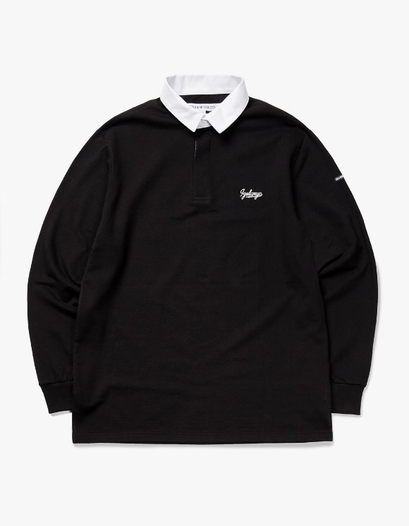 IZOLA NYC Varsity L/S Rugby Tee - Black | HEIGHTS. | International Store