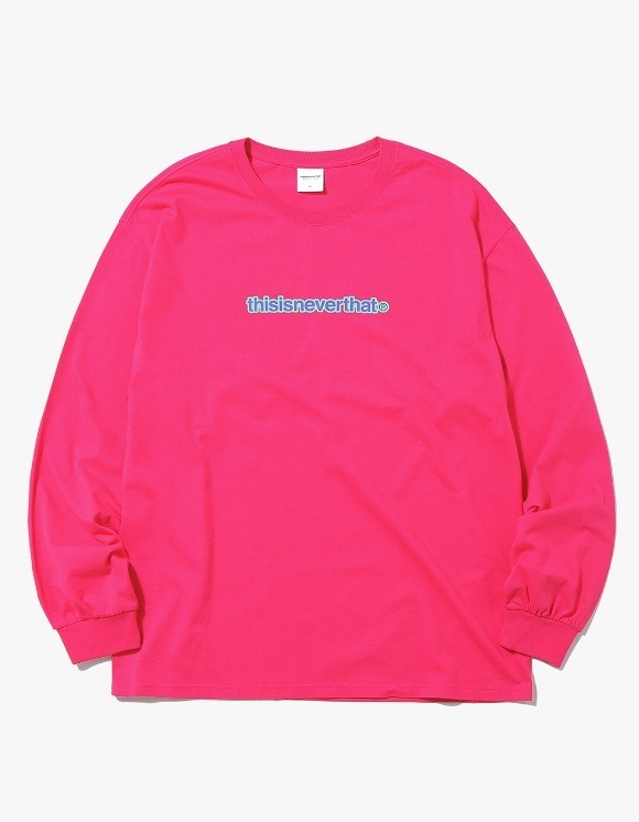 thisisneverthat 2Tone Logo L/SL Top - Pink | HEIGHTS. | International Store