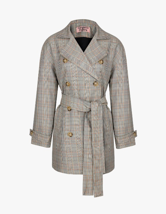 Margarin Fingers Double Belt Jacket - Beige | HEIGHTS. | International Store