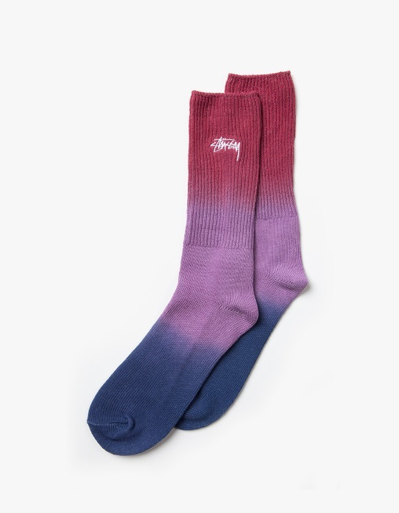 Stussy Dip Dye Marl Socks - Red | HEIGHTS. | International Store