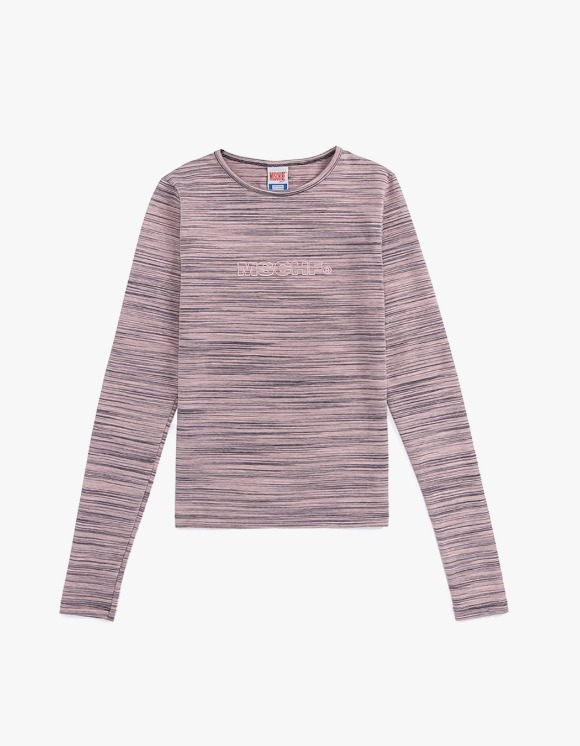 MISCHIEF [28 Mar, 2019 pre-oder] Fitted Stripe Long Sleeve - Pink/Grey | HEIGHTS. | International Store