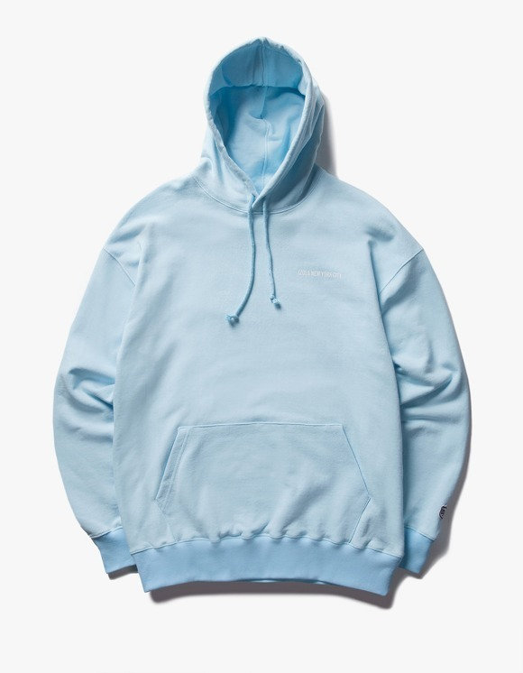 IZOLA NYC Logo Pullover Hoodie - Sky Blue | HEIGHTS. | International Store