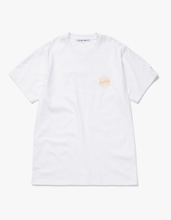 IZOLA NYC Aloha S/S Tee - White | HEIGHTS. | International Store