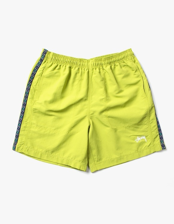 Stussy Taping Nylon Short - Lime | HEIGHTS. | International Store