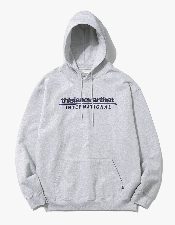 thisisneverthat SP-INTL. Logo Hooded Sweatshirt - Grey | HEIGHTS. | International Store