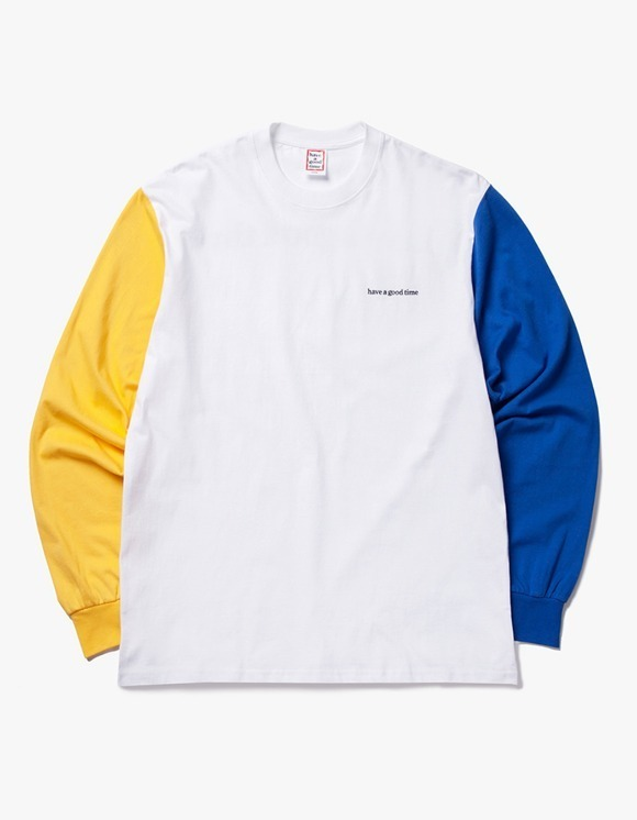 have a good time 3 Color L/S Tee - Yellow / White / Blue | HEIGHTS. | International Store