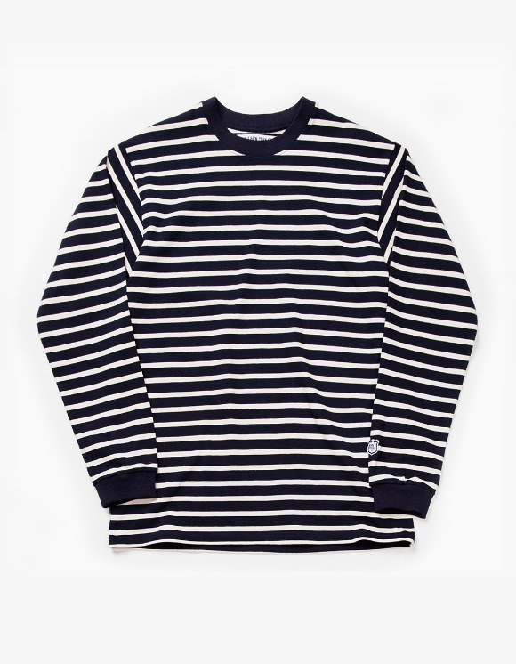 IZOLA NYC Stripe L/S Tee - Navy | HEIGHTS. | International Store