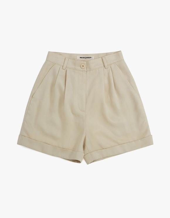 MISCHIEF Tencel Cuffed Shorts - Ivory | HEIGHTS. | International Store