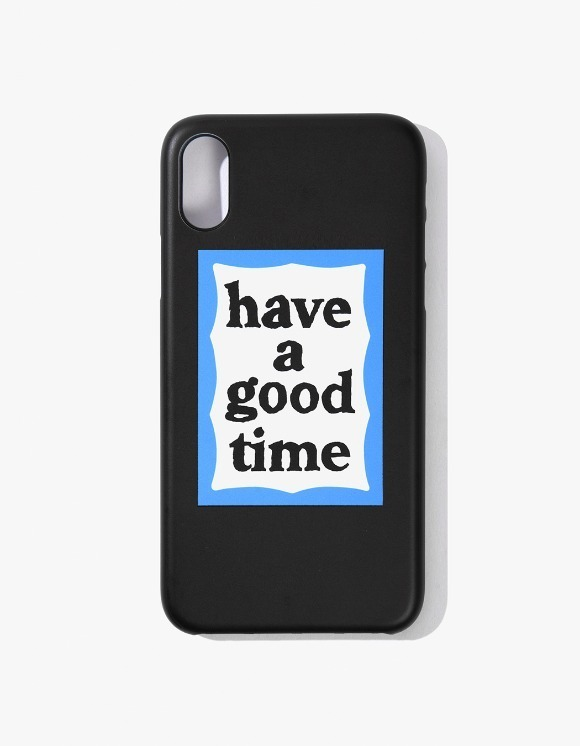 have a good time Blue Frame iPhone Case X - Black | HEIGHTS. | International Store
