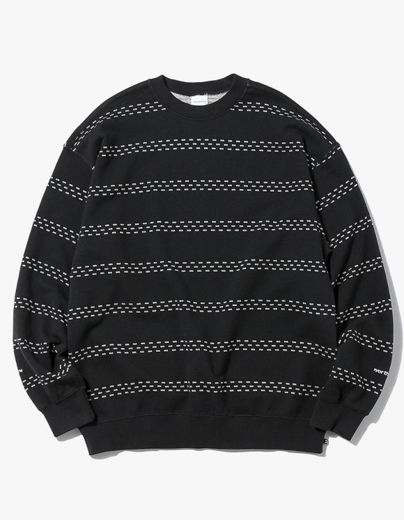 thisisneverthat Brick Striped Crewneck - Black | HEIGHTS. | International Store