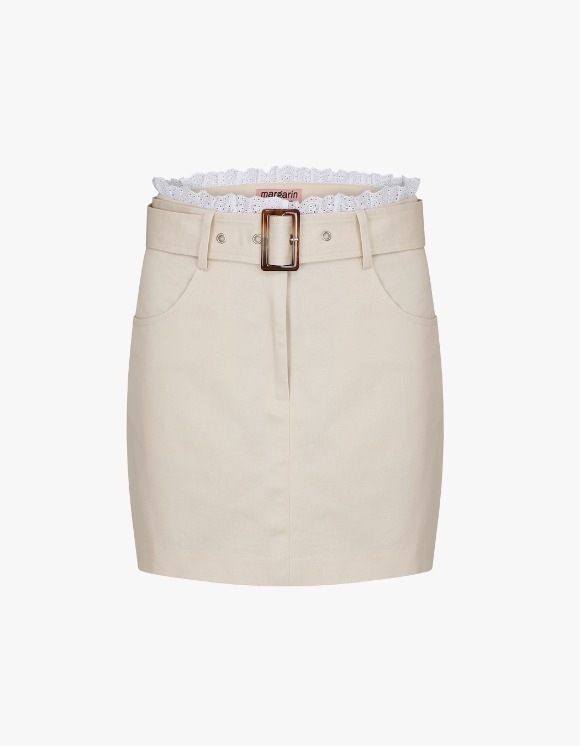 Margarin Fingers Belt Point Skirt - Beige | HEIGHTS. | International Store