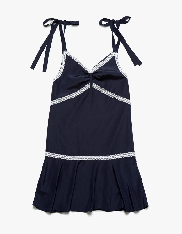 Margarin Fingers Ribbon Slip One-Piece - Navy | HEIGHTS. | International Store