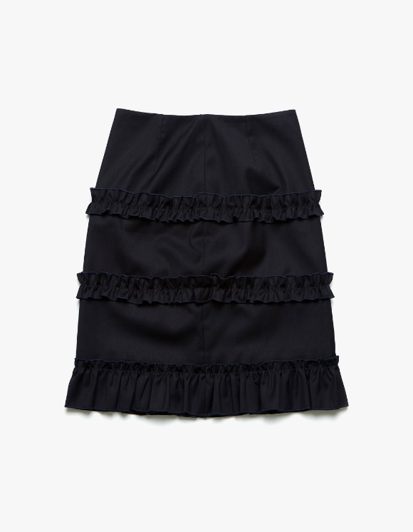 Margarin Fingers Ruffle Trimming Skirt - Navy | HEIGHTS. | International Store